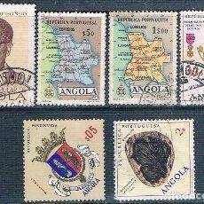 Sellos: ANGOLA 1955 / 76 - YVERT 392 + 395 + 449 + 540 + 566 + 615 ( USADOS ). Lote 154976358