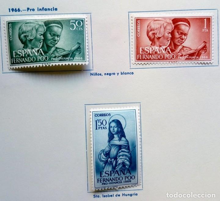 SERIE 3 SELLOS FERNANDO POO 1966 PRO INFANCIA (Sellos - España - Colonias Españolas y Dependencias - África - Fernando Poo)