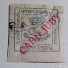 Sellos: 1919. SELLOS DE ESPAÑA, 1876 Y 1902 – 1922. HABILITADOS CABO JUBY 1/4 VERDE Nº5. Lote 155529066