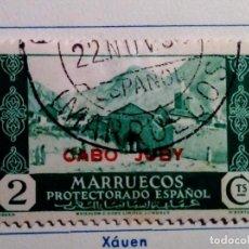 Sellos: 1935-1936. SELLO DE MARRUECOS HABILITADO CABO JUBY Nº 68 VERDE. Lote 155532638