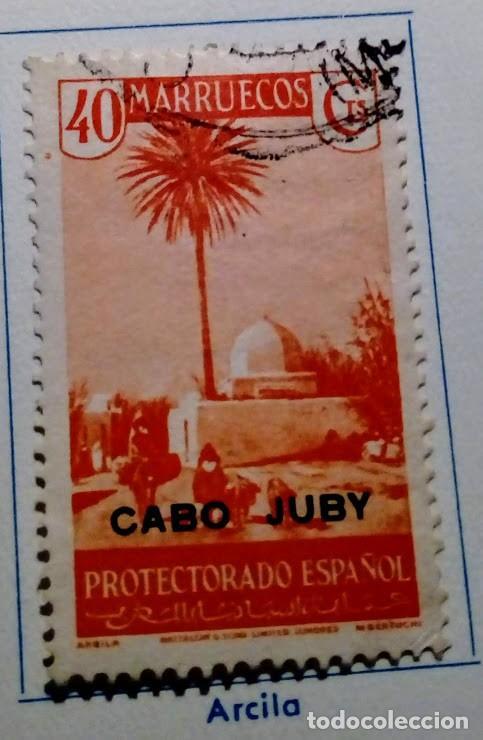 1935-36.- SELLO DE MARRUECOS HABILITADO CABO JUBY Nº 81 40 C NARANJA (Sellos - España - Colonias Españolas y Dependencias - África - Cabo Juby)