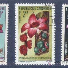 Sellos: GABON 1969 - YVERT 243 + 244 + 245 ( USADOS ). Lote 155652314