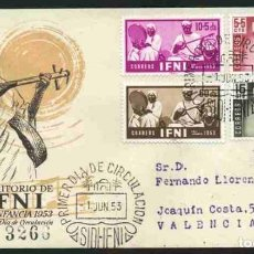 Sellos: SPD - IFNI 1953 - PRO INFANCIA. Lote 173095657