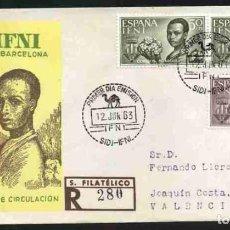 Sellos: SPD-IFNI 1963 - PRO BARCELONA. Lote 155845050