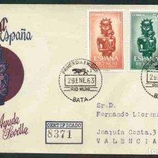 Sellos: SPD-RIO MUNI 1963 - AYUDA A SEVILLA. Lote 155949810
