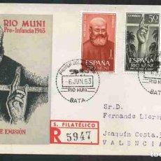 Sellos: SPD-RIO MUNI 1963 - PRO INFANCIA. Lote 155949918