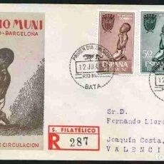 Sellos: SPD-RIO MUNI 1963 - PRO BARCELONA. Lote 155950038