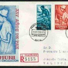 Sellos: SPD-RIO MUNI 1965 - XXV AÑOS DE PAZ. Lote 155953258