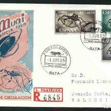 Sellos: SPD-RIO MUNI 1965 - PRO INFANCIA. Lote 155953358