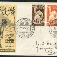 Sellos: SPD-SAHARA ESPAÑOL 1951 - DIA DEL SELLO. Lote 155970294