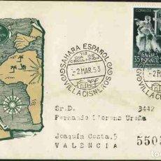 Sellos: SPD-SAHARA ESPAÑOL 1953 - REAL SOCIEDAD GEOGRÁFICA. Lote 155974238