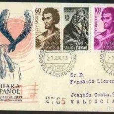 Sellos: SPD-SAHARA ESPAÑOL 1953 - PRO INFANCIA. Lote 155974354