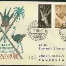 Sellos: SPD-SAHARA ESPAÑOL 1957 - FAUNA INDÍGENA. Lote 155981798