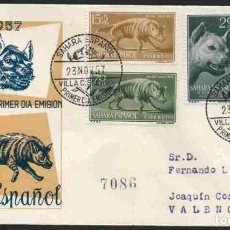 Sellos: SPD-SAHARA ESPAÑOL 1957 - DIA DEL SELLO. Lote 155982126