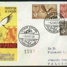 Sellos: SPD-SAHARA ESPAÑOL 1958 - AYUDA A VALENCIA. Lote 155983222