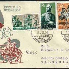 Sellos: SPD-SAHARA ESPAÑOL 1958 - PRO INFANCIA. Lote 155983398