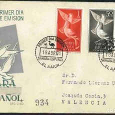 Sellos: SPD-SAHARA ESPAÑOL 1961 - AVES. Lote 155988294