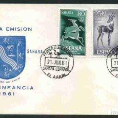 Sellos: SPD-SAHARA ESPAÑOL 1961 PRO INFANCIA EL AAIUN. Lote 155989370
