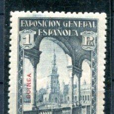 Sellos: EDIFIL 199 DE GUINEA ESPAÑOLA. 1 PTA. DE SEVILLA BARCELONA. NUEVO SIN FIJASELLOS. Lote 156363070