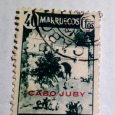 Sellos: SELLO 1940 DE MARRUECOS HABILITADOS CABO JUBY Nº 124. Lote 156560466