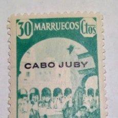 Sellos: SELLO 1940 DE MARRUECOS HABILITADOS CABO JUBY Nº 123. Lote 156560806