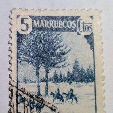 Sellos: SELLO 1940 DE MARRUECOS HABILITADO CABO JUBY Nº 118. Lote 156561782