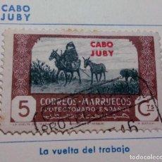 Sellos: SELLO 1944 DE MARRUECOS. AGRICULTURA, HABILITADO CABO JUBY Nº 140. Lote 156567754