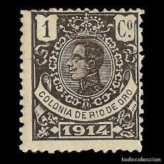 Sellos: SELLOS ESPAÑA. RÍO DE ORO. 1914 ALFONSO XIII. 1C. NEGRO BRONCE.NUEVO*.MARQUILLA. EDIFIL Nº78. Lote 156577782