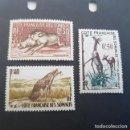 Sellos: SOMALIA COLONIA FRANCESA 1958 FACÓQUERO,LEOPARDO,GERENUK SCOTT 271-273** YVERT 287-289**,(LOTE AG). Lote 157833098