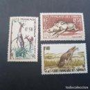 Sellos: SOMALIA COLONIA FRANCESA 1958 FACÓQUERO,LEOPARDO,GERENUK SCOTT 271-273** YVERT 287-289**,(LOTE AG). Lote 157833146