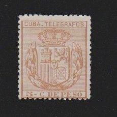 Sellos: CUBA TELÉGRAFOS 1889 ESCUDO DE ESPAÑA,5 C.DE PESO. EDIFIL Nº 68. Lote 157968698
