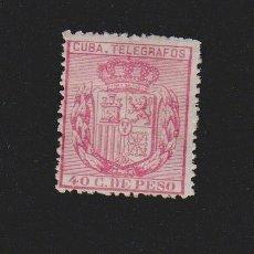 Sellos: CUBA TELÉGRAFOS 1896. ESCUDO DE ESPAÑA. 40 C.DE PESO. EDIFIL Nº 84. Lote 157971094