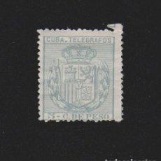 Sellos: CUBA TELÉGRAFOS 1896. ESCUDO DE ESPAÑA. 5 C.DE PESO. EDIFIL Nº 81. Lote 157971218