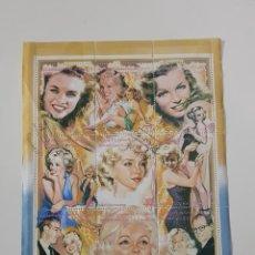 Sellos: PLANCHA SELLOS MARILYN MONROE SAHARA 1996 IMÁGENES DE SU VIDA. Lote 158797506