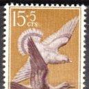Sellos: SIDI IFNI - UN SELLO - EDIFIL #135 -***FAUNA - AVES - PALOMAS***- AÑO 1957 - NUEVO. Lote 158891618