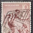 Sellos: SIDI IFNI - UN SELLO - EDIFIL #156 -***DEPORTES - FUTBOL / DIA DEL SELLO***- AÑO 1959 - USADO. Lote 158892570