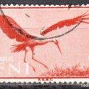 Sellos: SIDI IFNI - UN SELLO - EDIFIL #166 -***ANIMALES - FAUNA AVES***- AÑO 1960 - USADO. Lote 158893522
