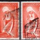Sellos: FERNANDO POO - DOS SELLOS - EDIFIL #182 -***RELIGION - IMAGEN DE LA VIRGEN***- AÑO 1960 - USADOS. Lote 158893986