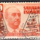 Sellos: SAHARA ESPAÑOL - UN SELLO - EDIFIL #88 -***VISITA DEL GENERAL FRANCO***- AÑO 1951 - USADO. Lote 158894518