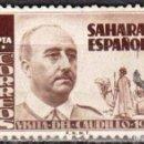 Sellos: SAHARA ESPAÑOL - UN SELLO - EDIFIL #89 -***VISITA DEL GENERAL FRANCO***- AÑO 1951 - USADO. Lote 158894686