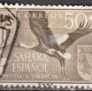 Sellos: SAHARA ESPAÑOL - UN SELLO - EDIFIL #148 -***ANIMALES - FAUNA (WHITE STORK)***- AÑO 1958 - USADO. Lote 158895678