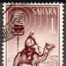 Sellos: SAHARA ESPAÑOL - UN SELLO - EDIFIL #231 -***ANINALES FAUNA (DROMEDARY)***- AÑO 1964 - USADO. Lote 158896858