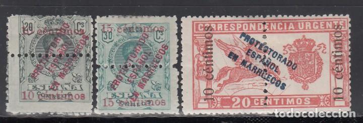 MMARUECOS, 1920 EDIFIL Nº 64, 65, 66, /*/ (Sellos - España - Colonias Españolas y Dependencias - África - Marruecos)