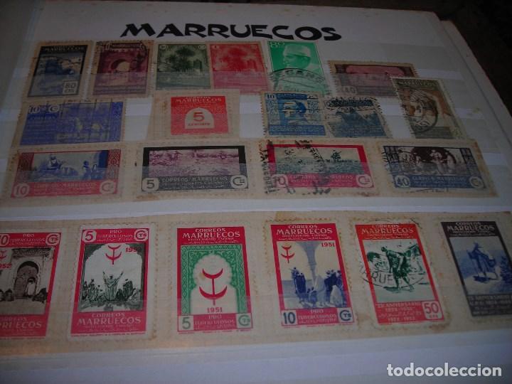 LOTE DE 21 SELLOSCIRCULADOS DEL PROTECTORADO ESPAÑOL DE MARRUECOS Y SOBRETASAS OBLIGATORIAS. (Sellos - España - Colonias Españolas y Dependencias - África - Marruecos)