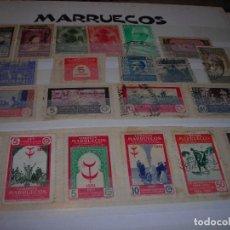 Sellos: LOTE DE 21 SELLOSCIRCULADOS DEL PROTECTORADO ESPAÑOL DE MARRUECOS Y SOBRETASAS OBLIGATORIAS.. Lote 159791710