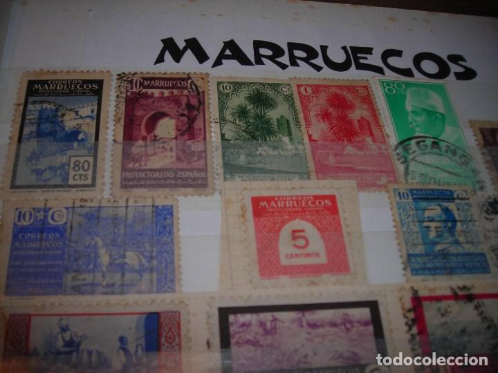 Sellos: LOTE DE 21 SELLOSCIRCULADOS DEL PROTECTORADO ESPAÑOL DE MARRUECOS Y SOBRETASAS OBLIGATORIAS. - Foto 2 - 159791710