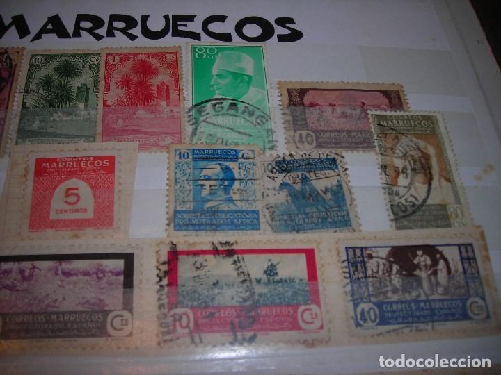 Sellos: LOTE DE 21 SELLOSCIRCULADOS DEL PROTECTORADO ESPAÑOL DE MARRUECOS Y SOBRETASAS OBLIGATORIAS. - Foto 3 - 159791710
