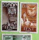 Sellos: IFNI. 132/34 DÍA DEL SELLO: ESCUDOS DE ESPAÑA E IFNI. 1956. SELLOS NUEVOS Y NUMERACIÓN EDIFIL. . Lote 160398354