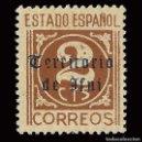 Sellos: SELLOS ESPAÑA. IFNI. EDIF.Nº2 .1941-1942.SELLOS ESPAÑA HABILITADOS.2C. CAST. ROJO. NUEVO*. . Lote 160441094