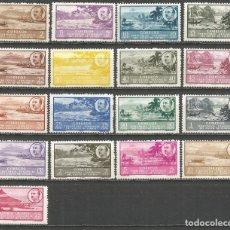 Sellos: GUINEA ESPAÑOLA EDIFIL NUM. 277/293 ** SERIE COMPLETA SIN FIJASELLOS. Lote 160498950